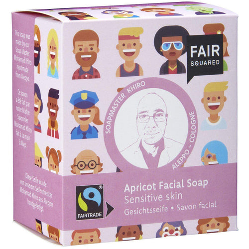 Fair Squared Zero Waste Organic Apricot Facial Soap Sensitive 2 x 80g-Just Beauty Organics Store