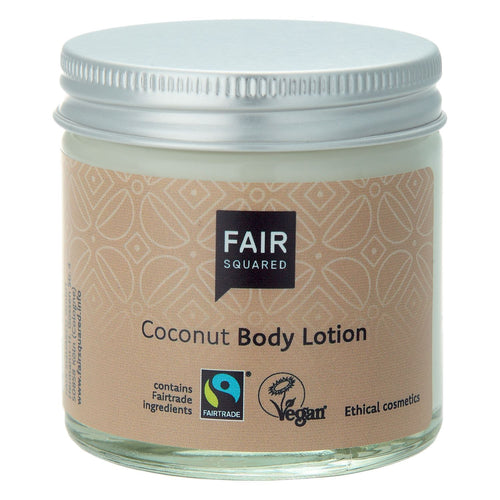 Fair Squared Zero Waste Organic Coconut Body Lotion 100ml-Just Beauty Organics Store