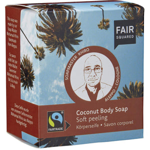 Fair Squared Zero Waste Organic Coconut Body Soap Exfoliating 2 x 80g-Just Beauty Organics Store