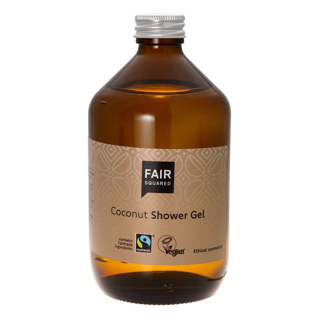 Fair Squared Zero Waste Organic Coconut Shower Gel 500ml-Just Beauty Organics Store