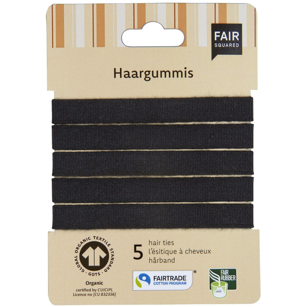 Fair Squared Zero Waste Organic Cotton Hairbands 5 pk-Just Beauty Organics Store