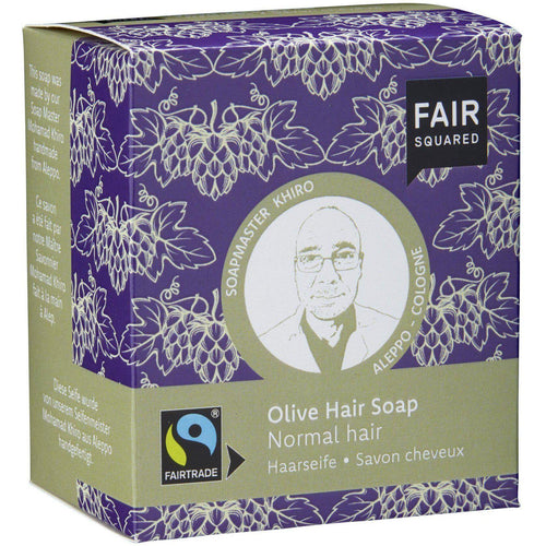 Fair Squared Zero Waste Organic Olive Shampoo Bar Normal 2 x 80g-Just Beauty Organics Store