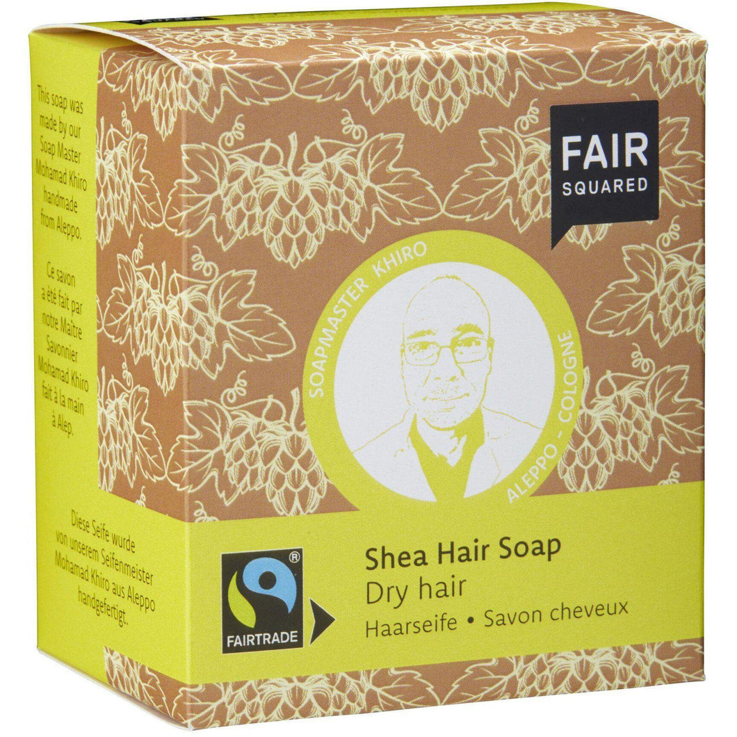 Fair Squared Zero Waste Organic Shea Shampoo Bar Dry 2 x 80g-Just Beauty Organics Store
