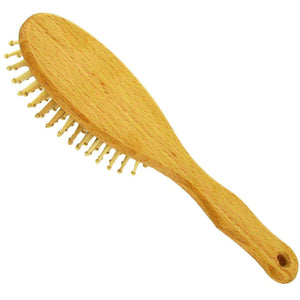 Forsters Large Hairbrush with round wooden pins, beech wood-Just Beauty Organics Store