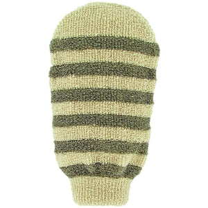 Forsters Massage glove striped certified organic linen & cotton-Just Beauty Organics Store