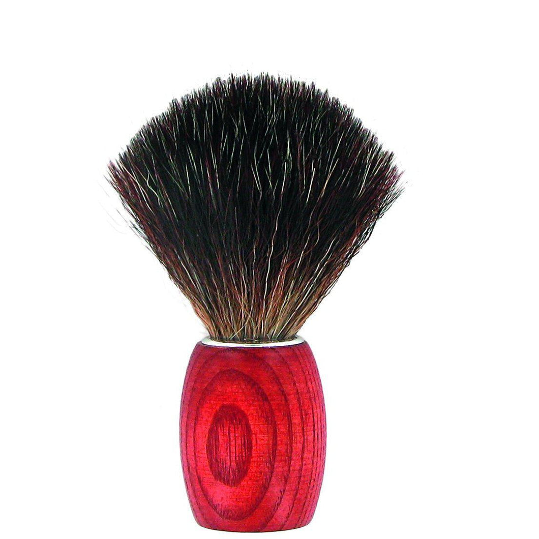 Forsters Shaving brush, ash tree stained, Black Fibre-Just Beauty Organics Store