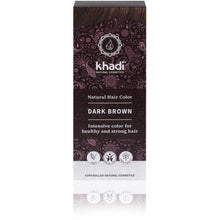 Load image into Gallery viewer, Khadi Organic Herbal Hair Colour Powder - Dark Brown 100g-Just Beauty Organics Store