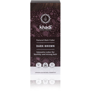 Khadi Organic Herbal Hair Colour Powder - Dark Brown 100g-Just Beauty Organics Store