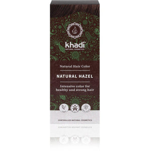 Khadi Organic Herbal Hair Colour Powder - Natural Hazel 100g-Just Beauty Organics Store