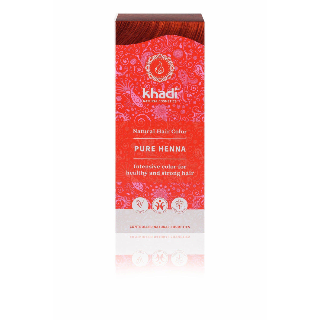 Khadi Organic Herbal Hair Colour Powder - Pure Henna 100g-Just Beauty Organics Store