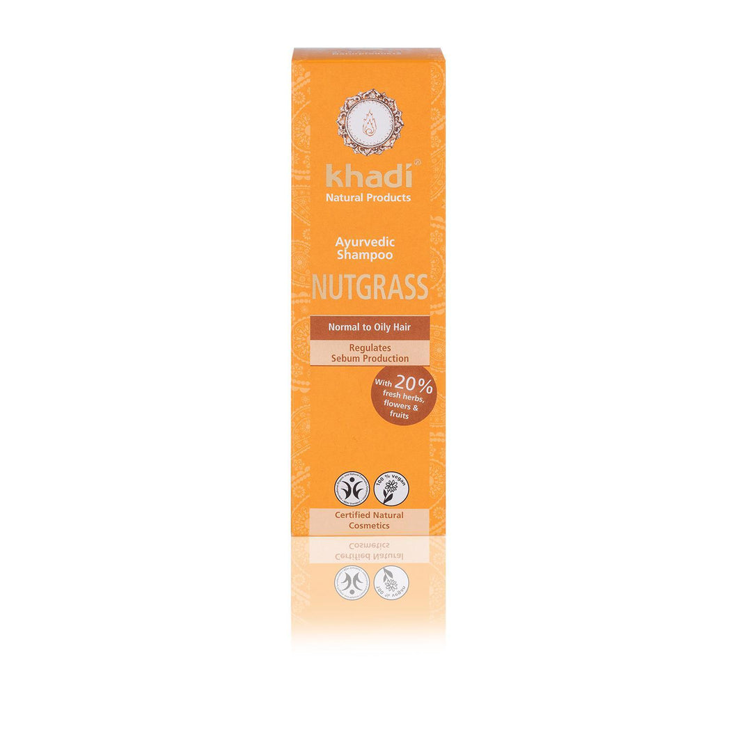 Khadi Organic Herbal Nutgrass Shampoo - Oily Hair 100ml-Just Beauty Organics Store