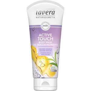 Lavera Active Touch Body Wash 200ml - Organic Ginger & Matcha-Just Beauty Organics Store
