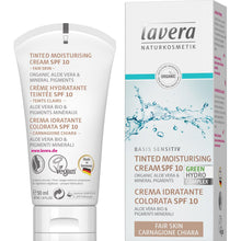 Load image into Gallery viewer, Lavera Basis Tinted Moisturising Cream SPF10 50ml - Organic Aloe Vera-Fair-Just Beauty Organics Store
