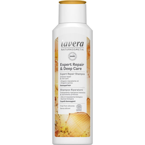 Lavera Expert Repair & Deep Care Shampoo with Organic Macadamia and Organic Quinoa 250ml-Just Beauty Organics Store