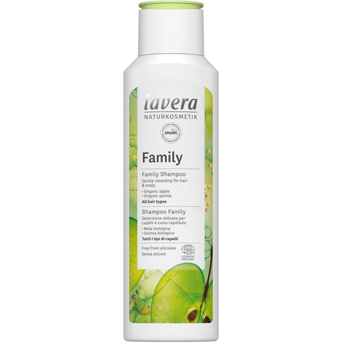 Lavera Family Shampoo with Organic Apple and Quinoa 250ml-Just Beauty Organics Store