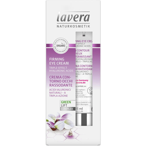 Lavera Firming Eye Cream 15ml - Organic Aloe Vera & Karanja-Just Beauty Organics Store