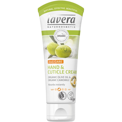 Lavera Hand & Cuticle Cream 75ml - Organic Olive & Chamomile-Just Beauty Organics Store