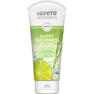 Lavera Happy Freshness Body Wash 200ml - Organic Lime & Lemongrass-Just Beauty Organics Store