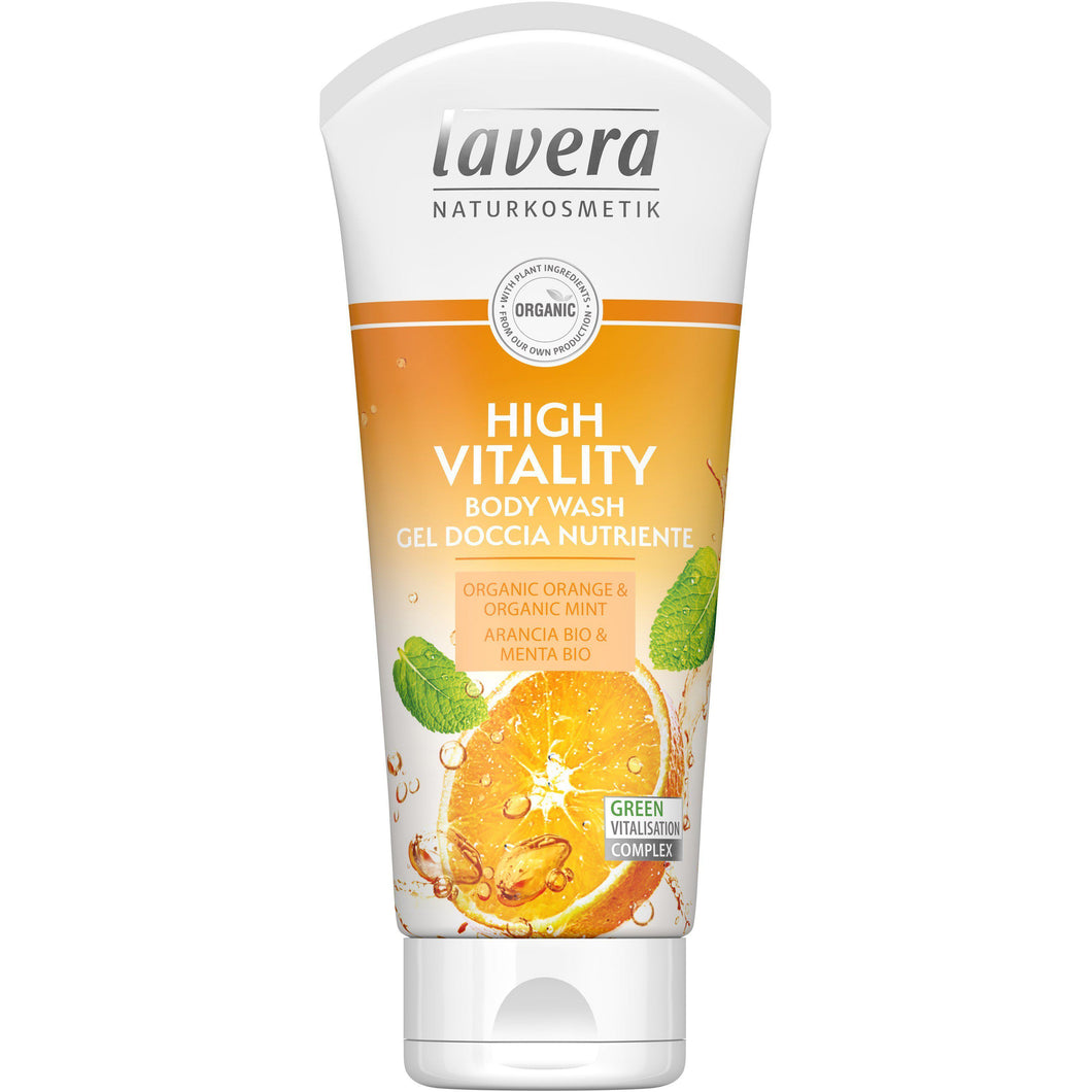 Lavera High Vitality Body Wash 200ml - Organic Orange & Mint-Just Beauty Organics Store