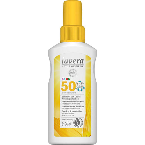 Lavera Kids Sensitive Sun Lotion SPF50+ with Organic Oils 100ml-Just Beauty Organics Store