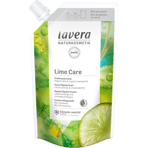 Lavera Lime Care Hand Wash Refill Pouch 500ml - Organic Lime & Lemongrass-Just Beauty Organics Store