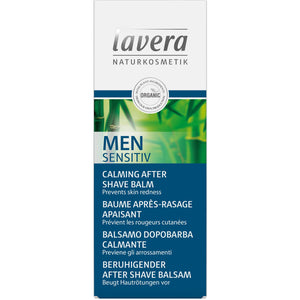 Lavera Men Sensitiv Aftershave Balm 50ml - Organic Bamboo & Aloe Vera-Just Beauty Organics Store
