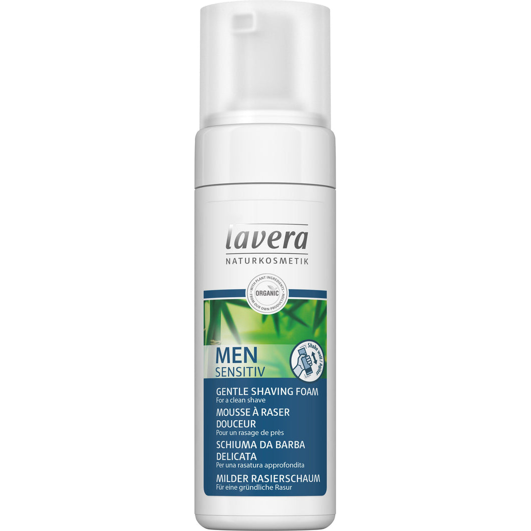 Lavera Men Sensitiv Gentle Shaving Foam 150ml - Organic Bamboo & Aloe Vera-Just Beauty Organics Store