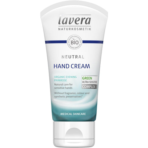 Lavera Neutral Hand Cream 50ml - Organic Evening Primrose & Shea-Just Beauty Organics Store