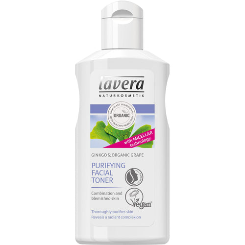 Lavera Purifying Facial Toner 125ml - Organic Grape & Gingko-Just Beauty Organics Store