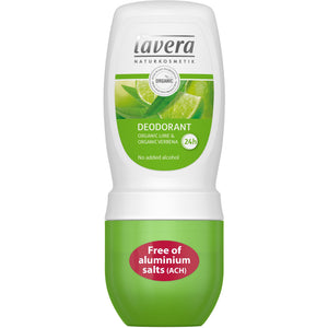 Lavera Refreshing Deodorant Roll On 50ml - Organic Lime & Verbena-Just Beauty Organics Store