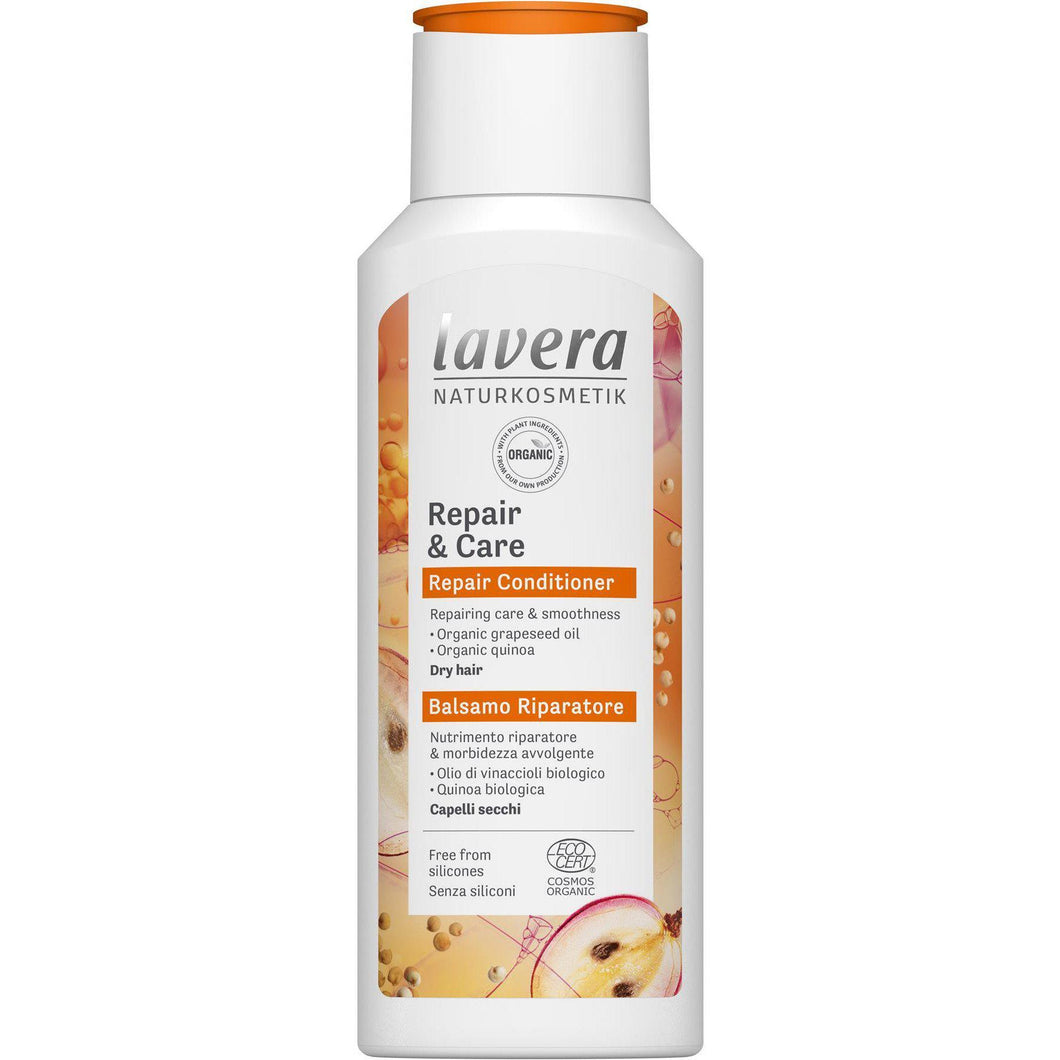 Lavera Repair & Care Conditioner with organic Grapeseed and Organic Quinoa 200ml-Just Beauty Organics Store