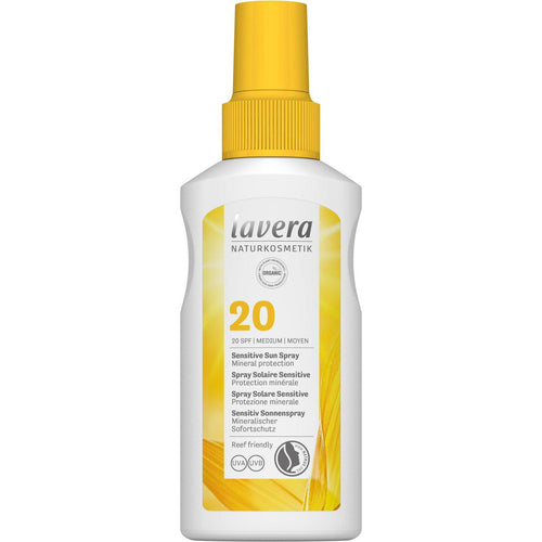 Lavera Sensitive Sun Spray SPF20 with organic Oils 100ml-Just Beauty Organics Store