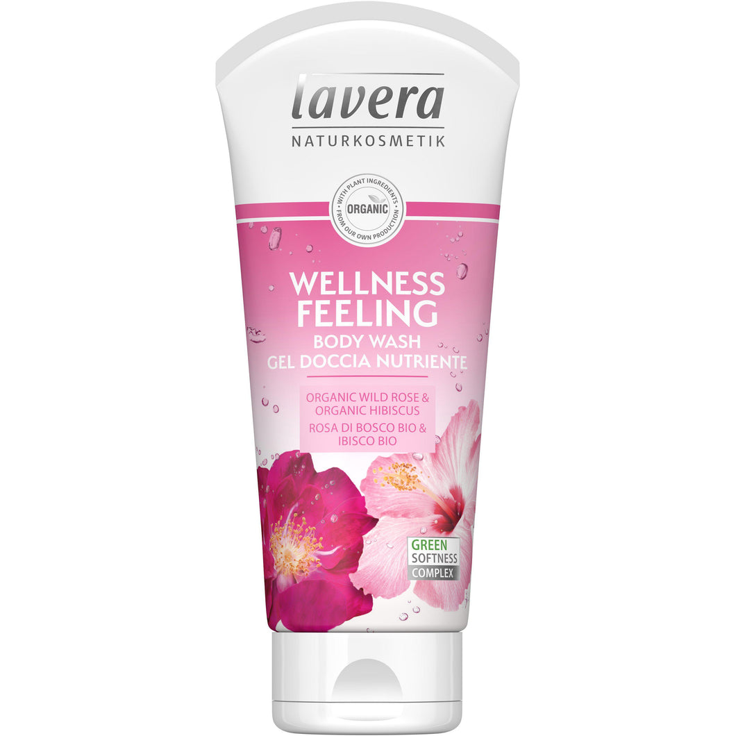 Lavera Wellness Feeling Body Wash 200ml - Organic Rose & Hibiscus-Just Beauty Organics Store