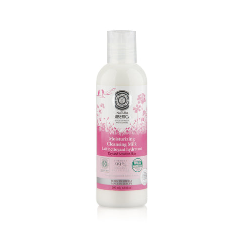 Natura Siberica Organic Moisturising Cleansing Milk 200ml-Just Beauty Organics Store