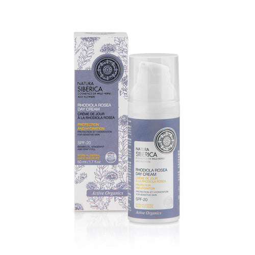 Natura Siberica Organic Rhodiola Rosea Day Cream 50ml - Active Organics-Just Beauty Organics Store