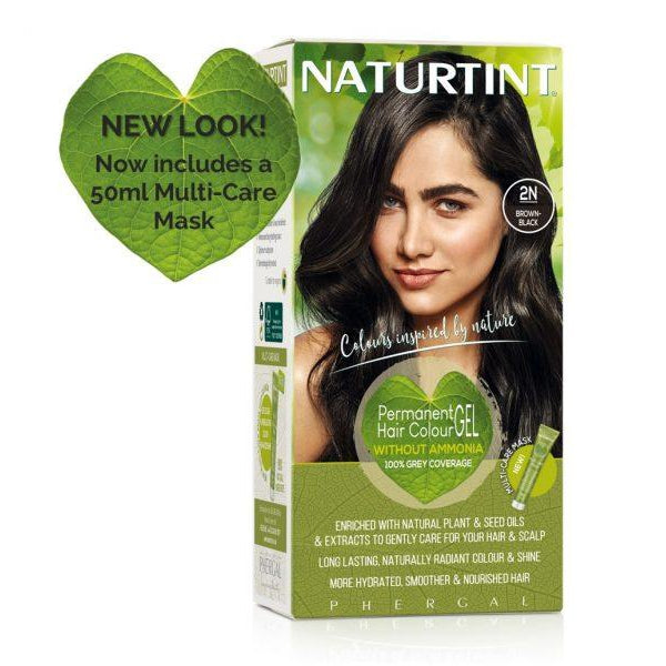 Naturtint Permanent Hair Colour - 2N Brown Black 170ml-Just Beauty Organics Store
