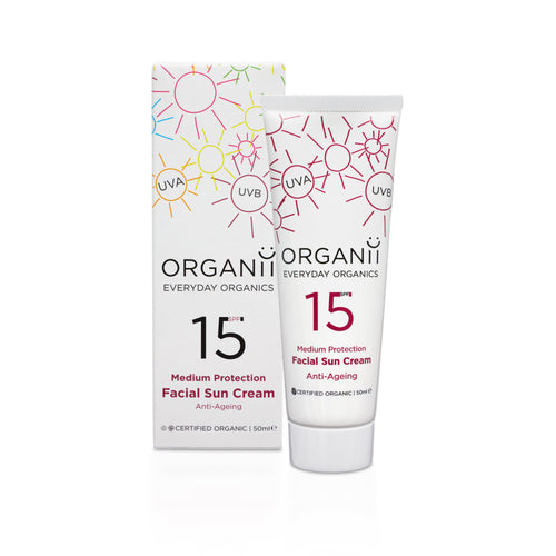 ORGANii Organic SPF15 Anti Ageing Facial Sun Cream 50ml-Just Beauty Organics Store