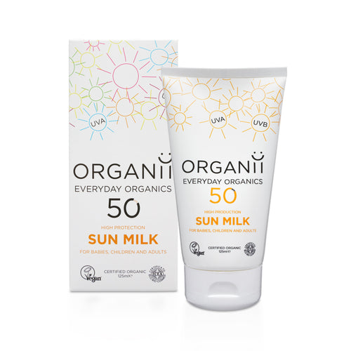 ORGANii Organic SPF50 Sun Milk 125ml-Just Beauty Organics Store