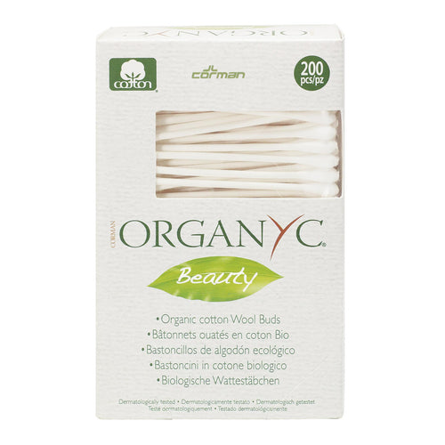 Organyc 100% Organic Cotton Buds biodegradable 200 pack-Just Beauty Organics Store