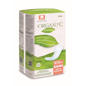 Organyc 100% Organic Cotton Maternity Pads 12 pack-Just Beauty Organics Store