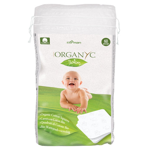 Organyc 100% Organic Cotton Squares 60 pack-Just Beauty Organics Store
