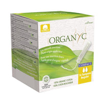 Load image into Gallery viewer, Organyc Organic Compact Applicator Tampons 16 pack-Compact - Regular-Just Beauty Organics Store