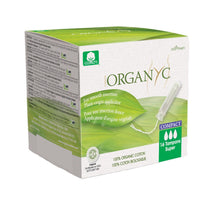 Load image into Gallery viewer, Organyc Organic Compact Applicator Tampons 16 pack-Compact - Super-Just Beauty Organics Store