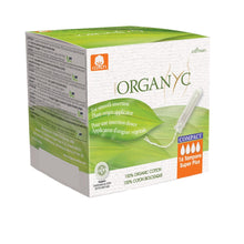Load image into Gallery viewer, Organyc Organic Compact Applicator Tampons 16 pack-Compact - Super Plus-Just Beauty Organics Store