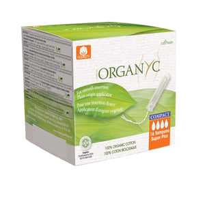 Organyc Organic Compact Applicator Tampons 16 pack-Compact - Super Plus-Just Beauty Organics Store