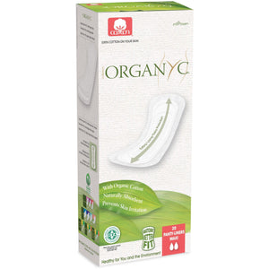 Organyc Organic Panty liners Flat Extra Long 20 pack-Just Beauty Organics Store