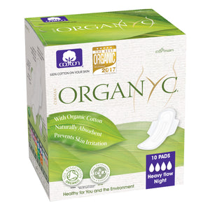 Organyc Organic Sanitary pads Heavy / Night 10 pack-Just Beauty Organics Store