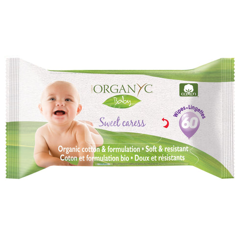 Organyc Sweet Caress Organic Cotton Baby Wipes 60 pack-Just Beauty Organics Store