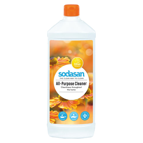 Sodasan All Purpose Cleaner 1 Litre - with organic vegetable oils-Just Beauty Organics Store