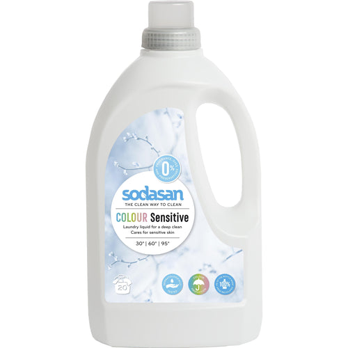 Sodasan Sensitive Laundry Liquid 1.5 Litre - with organic vegetable oils-Just Beauty Organics Store